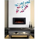Wall Sticker of Red - Blue Floral