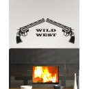 Wall Sticker of Wild West