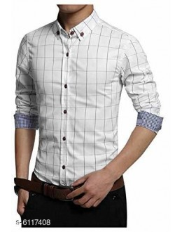 New Stylish Cotton Long Sleeves Men's Casual Shirt