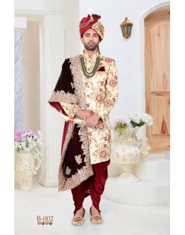 Readymade Multicolored Indowestern Sherwani Set - B002