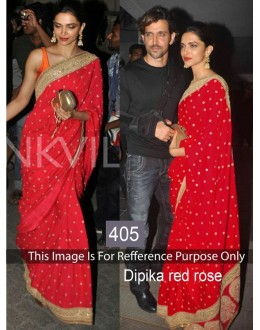Bollywood Replica - Deepika Padukone Red Saree - 405 (CM-Vol-13)