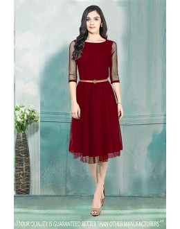 Pure Georgette Readymade Western Wear Dress - 30004