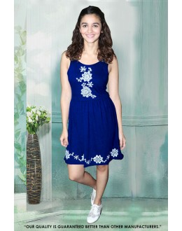 Fancy Readymade Blue Western Wear Dress - 30051