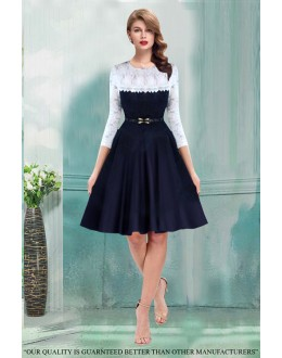 Party Wear Readymade Blue Western Wear Dress - 30083