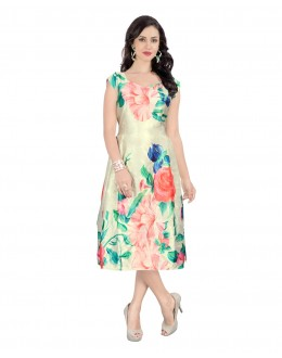 Party Wear Readymade Multi-Colour Western Wear Dress - 30091