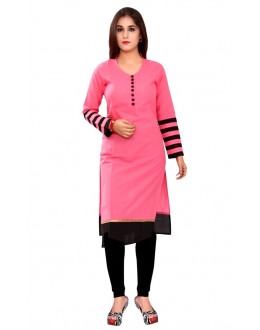 Casual Wear Cotton Pink Kurti - 50018