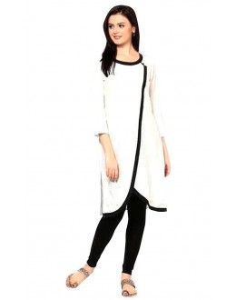 Casual Wear Cotton White Kurti - 50023