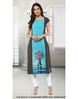 Office Wear Readymade Crepe Kurti - 50295