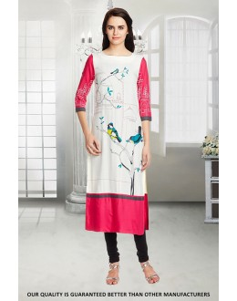 Office Wear Readymade Crepe Kurti - 50320