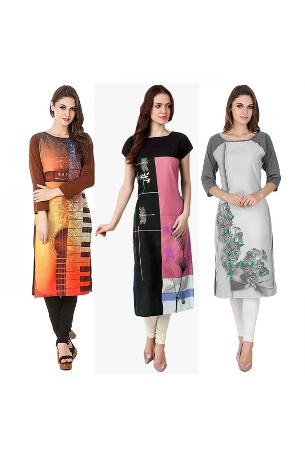 Ethnic Wear Readymade Kurti Combo Pack Of 3 - 50-323-329A-330C
