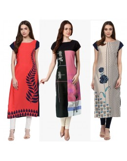 Ethnic Wear Readymade Combo Pack Of 3 Kurti - 50-324-329A-332
