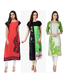Ethnic Wear Readymade Kurti Combo Pack Of 3 - 50-324-329B-330B
