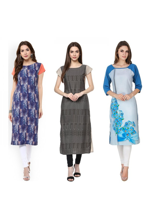 Ethnic Wear Readymade Kurti Combo Pack Of 3 - 50-327-333-330A