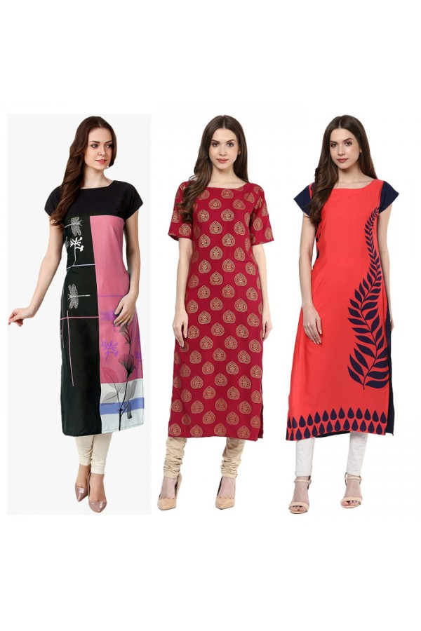 Ethnic Wear Readymade Kurti Combo Pack Of 3 - 50-329A-326-324