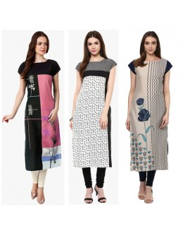 Casaul Wear Readymade Kurti Combo Pack Of 3 - 50-329A-331-332