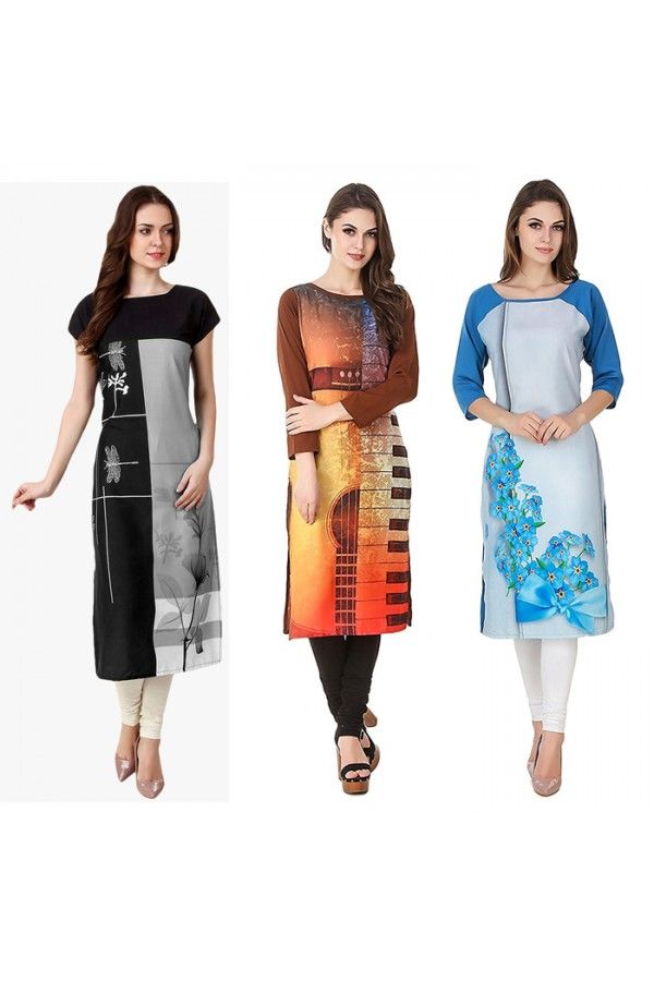 Party Wear Readymade Kurti Combo Pack Of 3 - 50-329C-323-330A