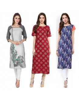 Casual Wear Readymade Combo Pack Of 3 Kurti - 50-330C-326-327