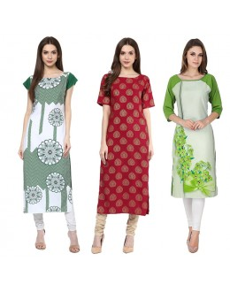 Office Wear Readymade Kurti Combo Pack Of 3 - 50-334-326-330B