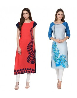 Office Wear Readymade Kurti Combo Pack Of 2 - 50324-50330A