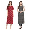 Casual Wear Readymade Kurti Combo Pack Of 2 - 50326-50333