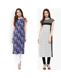 Office Wear Readymade Kurti Combo Pack Of 2 - 50327-50331