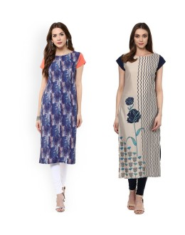 Ethnic Wear Readymade Combo Pack Of 2 Kurti - 50327-50332