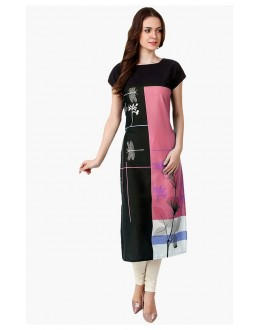 Casual Wear Readymade Multi-Colour Crepe Kurti - 50329A
