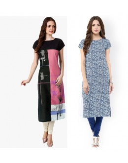 Office Wear Readymade Kurti Combo Pack Of 2 - 50329A-50328