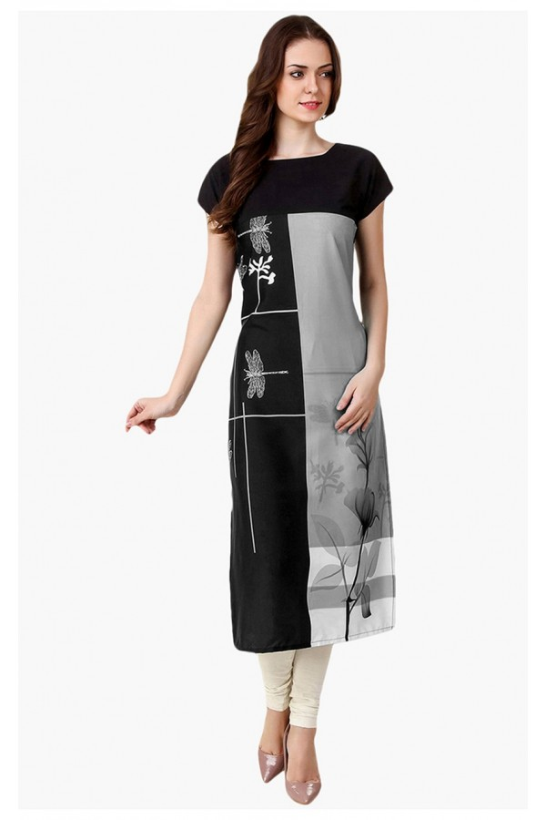 Office Wear Readymade Multi-Colour Crepe Kurti - 50329C