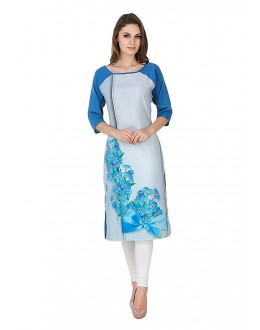 Festival Wear Readymade Multi-Colour Crepe Kurti - 50330A
