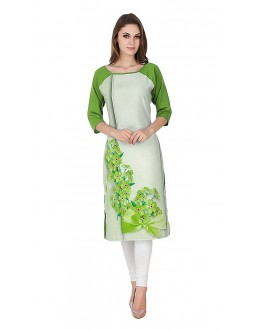 Party Wear Readymade Multi-Colour Crepe Kurti - 50330B