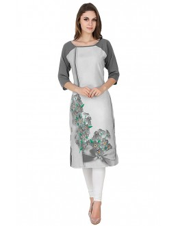 Ethnic Wear Readymade Multi-Colour Crepe Kurti - 50330C