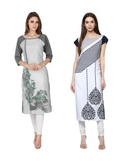 Office Wear Readymade Combo Pack Of 2 Kurti - 50330C-50325