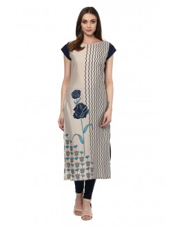 Festival Wear Readymade Multi-Colour Crepe Kurti - 50332