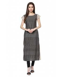 Casual Wear Readymade Multi-Colour Crepe Kurti - 50333
