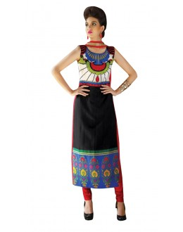 Festival Wear Readymade Multi-Colour Taffeta Kurti - 50405