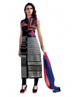 Ethnic Wear Readymade Multi-Colour Taffeta Kurti - 50407