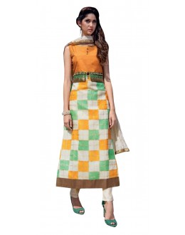 Party Wear Readymade Multi-Colour Taffeta Kurti - 50409