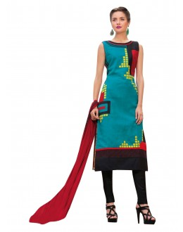 Traditional Wear Readymade Multi-Colour Taffeta Kurti - 50414