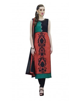 Ethnic Wear Readymade Multi-Colour Taffeta Kurti - 50416