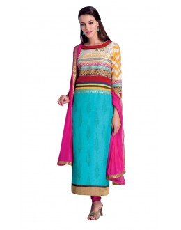 Party Wear Readymade Multi-Colour Taffeta Kurti - 50417