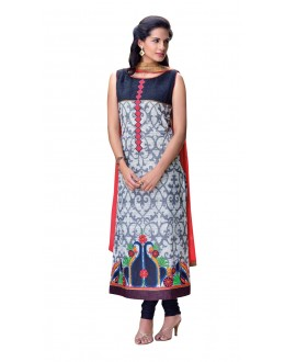 Casual Wear Readymade Multi-Colour Taffeta Kurti - 50422