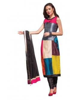 Party Wear Readymade Multi-Colour Taffeta Kurti - 50423