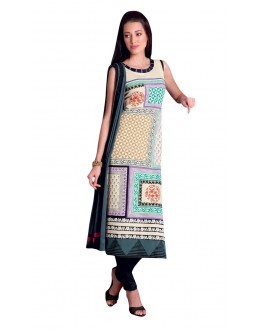 Casual Wear Readymade Multi-Colour Taffeta Kurti - 50426