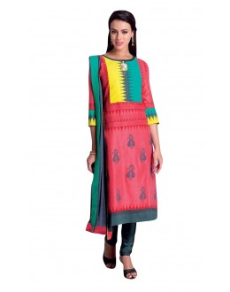 Festival Wear Readymade Multi-Colour Taffeta Kurti - 50427