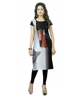 Festival Wear Readymade Multi-Colour Crepe Kurti - 50433