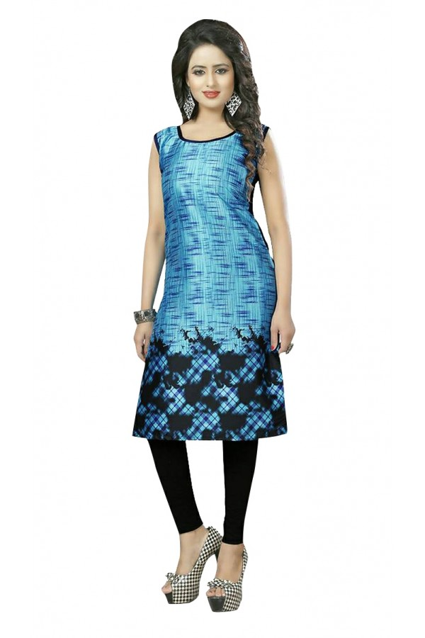 Party Wear Readymade Multi-Colour Crepe Kurti - 50435