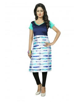 Traditional Wear Readymade Multi-Colour Crepe Kurti - 50436