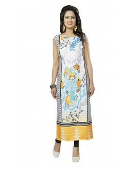 Wedding Wear Readymade Multi-Colour Crepe Kurti - 50437