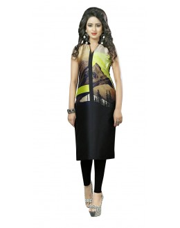 Festival Wear Readymade Multi-Colour Crepe Kurti - 50438